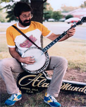 Alan Munde On Banjo Case